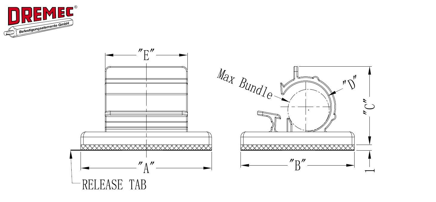 kabelhalter selbstklebend dremec gmbh selbstklebende. Black Bedroom Furniture Sets. Home Design Ideas